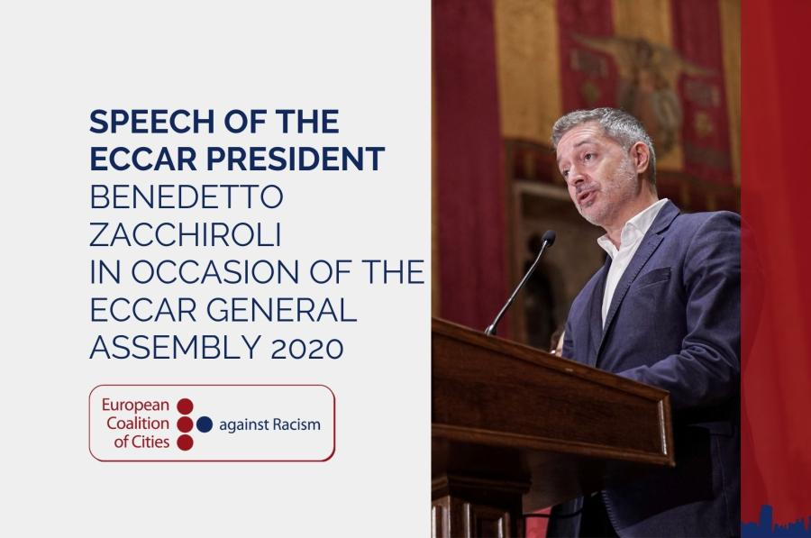 Speech of the ECCAR President Benedetto Zacchiroli in occasion of the ECCAR General Assembly 2020